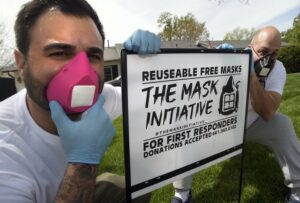 Local 706 Member, Allan Apone and Son Launch Mask Initiative