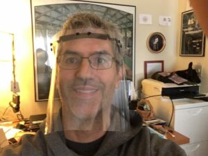 Local 600 Member, Dave Chameides, Creates Print Face Shields