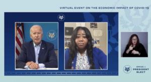 Jessica Gavin of Local 834 Talks with President Biden