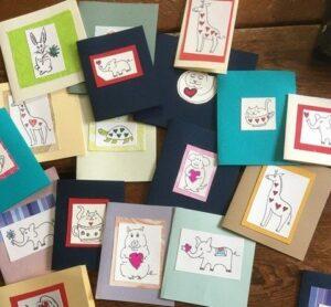 Wardrobe Member, Martha Schermerhorn, Makes Cards for Patients