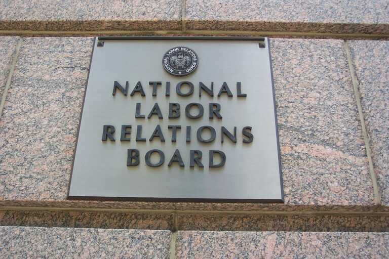 National Labor Relations Board plaque