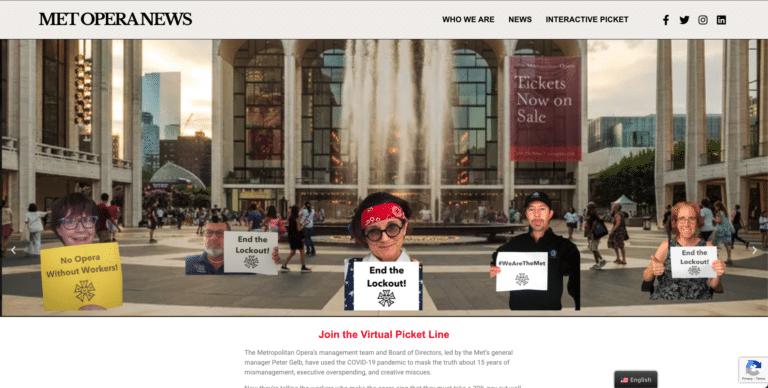 Met Opera Stagecraft Virtual Picket Line