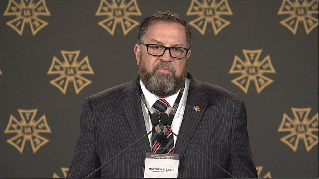 President Matthew D. Loeb speaks at IATSE 2020 Convention