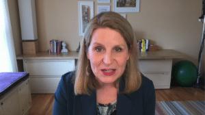Liz Shuler speaking remotely during IATSE 2020 convention
