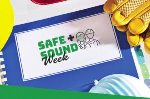 Safe and sound week logo