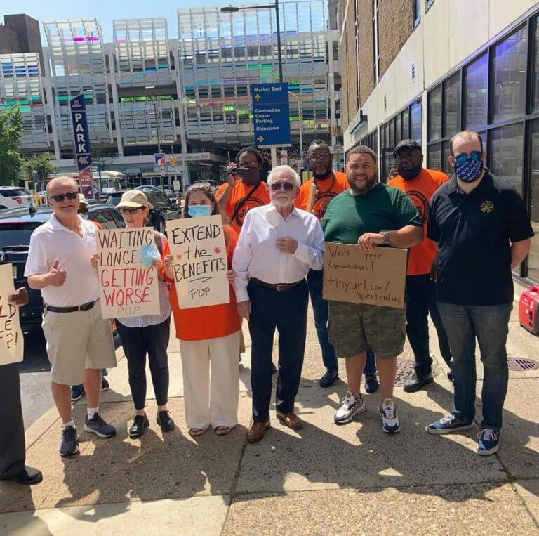 IATSE Members at rally in Philadelphia.
