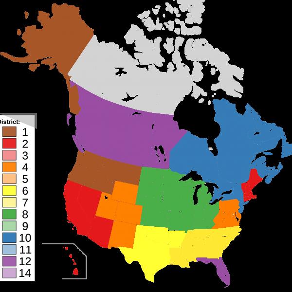 IATSE District Map